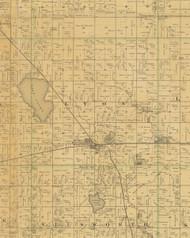 Lyon, Iowa 1883 Old Town Map Custom Print - Hamilton Co.