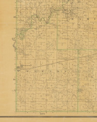 Marion, Iowa 1883 Old Town Map Custom Print - Hamilton Co.