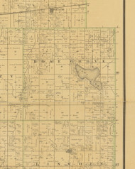 Rose Grove, Iowa 1883 Old Town Map Custom Print - Hamilton Co.