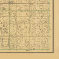 Scott, Iowa 1883 Old Town Map Custom Print - Hamilton Co.
