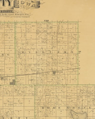 Williams, Iowa 1883 Old Town Map Custom Print - Hamilton Co.