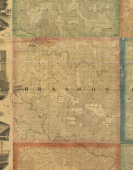 Brandon, Iowa 1867 Old Town Map Custom Print - Jackson Co.