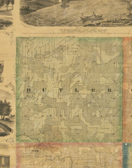 Butler, Iowa 1867 Old Town Map Custom Print - Jackson Co.