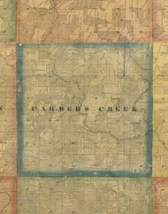 Farmers Creek, Iowa 1867 Old Town Map Custom Print - Jackson Co.