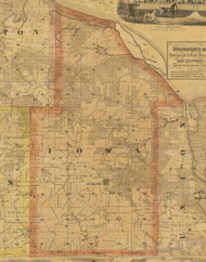 Iowa, Iowa 1867 Old Town Map Custom Print - Jackson Co.