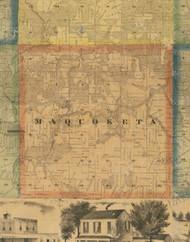 Maquoketa, Iowa 1867 Old Town Map Custom Print - Jackson Co.