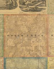 Otter Creek, Iowa 1867 Old Town Map Custom Print - Jackson Co.