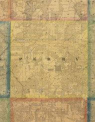 Perry, Iowa 1867 Old Town Map Custom Print - Jackson Co.