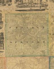 Prairie Springs, Iowa 1867 Old Town Map Custom Print - Jackson Co.