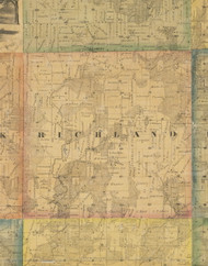 Richland, Iowa 1867 Old Town Map Custom Print - Jackson Co.