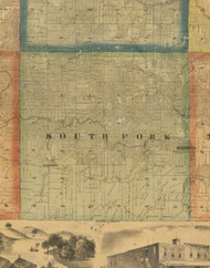 South Fork, Iowa 1867 Old Town Map Custom Print - Jackson Co.