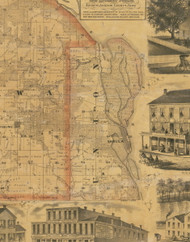 Union, Iowa 1867 Old Town Map Custom Print - Jackson Co.