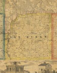 Van Buren, Iowa 1867 Old Town Map Custom Print - Jackson Co.