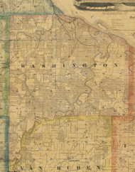 Washington, Iowa 1867 Old Town Map Custom Print - Jackson Co.