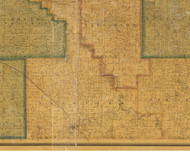 Fairview, Iowa 1871 Old Town Map Custom Print - Jasper Co.