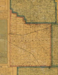 Washington, Iowa 1871 Old Town Map Custom Print - Jasper Co.