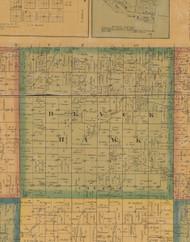 Black Hawk, Iowa 1871 Old Town Map Custom Print - Jefferson Co.