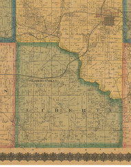 Liberty, Iowa 1871 Old Town Map Custom Print - Jefferson Co.