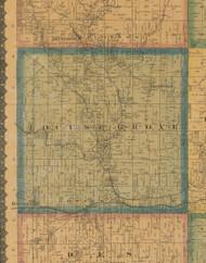 Locust Grove, Iowa 1871 Old Town Map Custom Print - Jefferson Co.