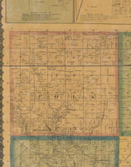 Polk, Iowa 1871 Old Town Map Custom Print - Jefferson Co.