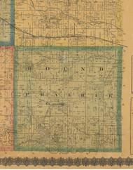 Round Prairie, Iowa 1871 Old Town Map Custom Print - Jefferson Co.