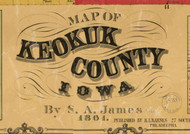 Title of Source Map - Keokuk Co., Iowa 1861 - NOT FOR SALE - Keokuk Co.
