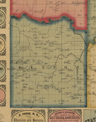 Benton, Iowa 1861 Old Town Map Custom Print - Keokuk Co.