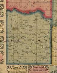 Benton, Iowa 1861 Old Town Map Custom Print - Keokuk Co.