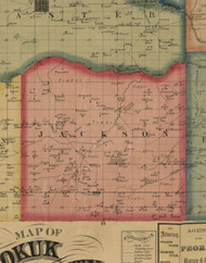 Jackson, Iowa 1861 Old Town Map Custom Print - Keokuk Co.