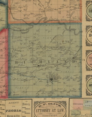 Richland, Iowa 1861 Old Town Map Custom Print - Keokuk Co.