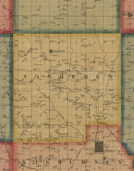 Vanburen, Iowa 1861 Old Town Map Custom Print - Keokuk Co.