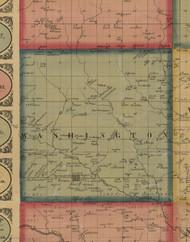 Washington, Iowa 1861 Old Town Map Custom Print - Keokuk Co.