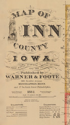 Title of Source Map - Linn Co., Iowa 1881 - NOT FOR SALE - Linn Co.
