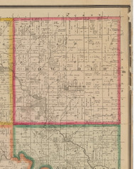 Bowlder, Iowa 1881 Old Town Map Custom Print - Linn Co.