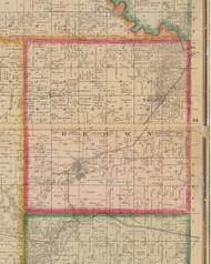 Brown, Iowa 1881 Old Town Map Custom Print - Linn Co.