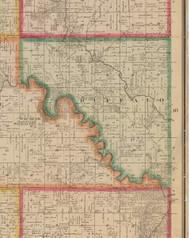 Buffalo, Iowa 1881 Old Town Map Custom Print - Linn Co.