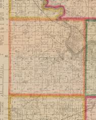 Clinton, Iowa 1881 Old Town Map Custom Print - Linn Co.