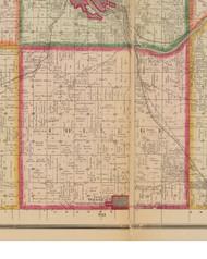 College, Iowa 1881 Old Town Map Custom Print - Linn Co.