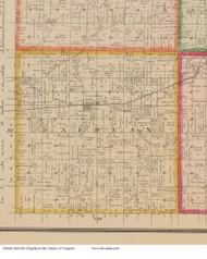 Fairfax, Iowa 1881 Old Town Map Custom Print - Linn Co.