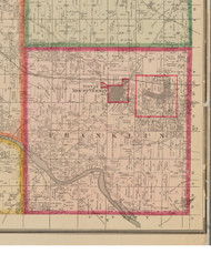 Franklin, Iowa 1881 Old Town Map Custom Print - Linn Co.