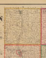 Grant, Iowa 1881 Old Town Map Custom Print - Linn Co.