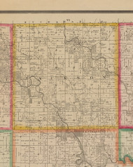 Jackson, Iowa 1881 Old Town Map Custom Print - Linn Co.