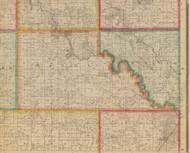 Maine, Iowa 1881 Old Town Map Custom Print - Linn Co.