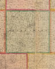 Otter Creek, Iowa 1881 Old Town Map Custom Print - Linn Co.