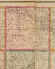 Spring Grove, Iowa 1881 Old Town Map Custom Print - Linn Co.