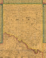Adams, Iowa 1871 Old Town Map Custom Print - Mahaska Co.