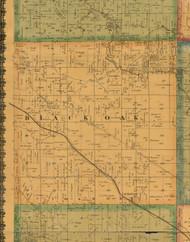 Black Oak, Iowa 1871 Old Town Map Custom Print - Mahaska Co.
