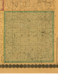 Cedar, Iowa 1871 Old Town Map Custom Print - Mahaska Co.