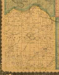 Jefferson, Iowa 1871 Old Town Map Custom Print - Mahaska Co.