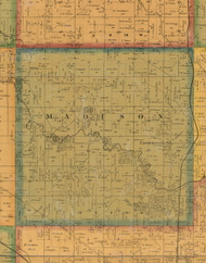 Madison, Iowa 1871 Old Town Map Custom Print - Mahaska Co.